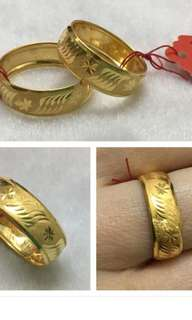 916 Gold 0.6cm Wide Ring size 16 /17 /20/ 11 /13 /14