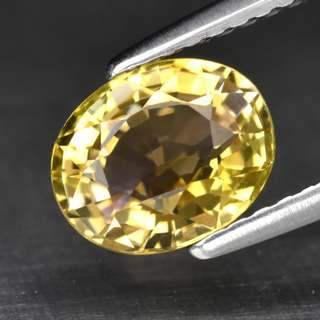 1.37ct Oval Natural Pinkish Yellow Tourmaline