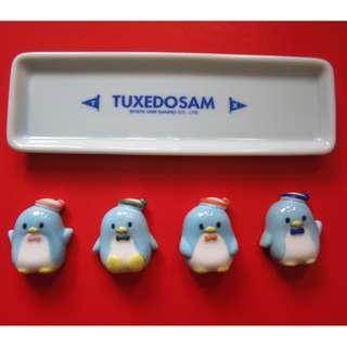 TUXEDOSAM 陶瓷企鵝筷子座連碟 (1998年)