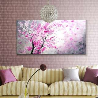 Blooming Flowers Abstract Art Oil Painting 50cm x 100cm