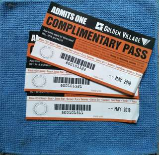 Golden Village complimentary Pass