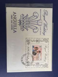 Anguilla 1981 Royal Wedding set FDC