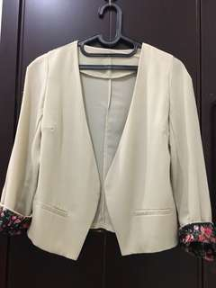 Floral blazer outer