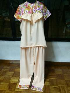 Handmade pyjamas (pink flower)