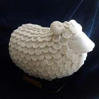 萬福羊陶瓷雕塑擺件