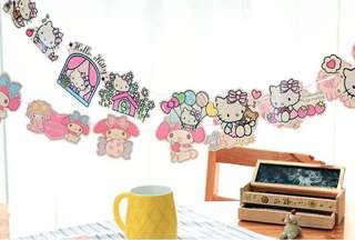 💕 Hello Kitty / My Melody / Little Twin Star Party Supplies - bunting / banner / party deco