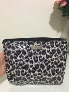 Wicked Sista Toiletry Make Up Bag Snow Leopard