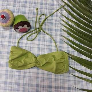 Sexy green swimsuit bra