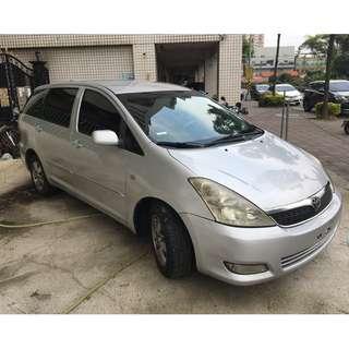 瑋哥車坊 正2005年 Toyota Wish 亮麗銀 省油省稅國民代步車 實車實價只要13.8萬 一手車 非自售