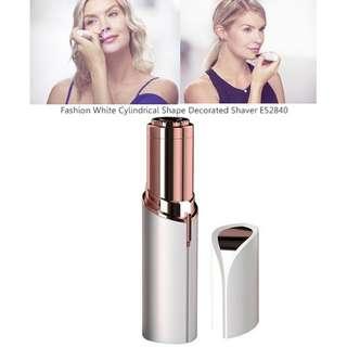 Fashion White Cylindrical Shape Decorated Shaver E52840
