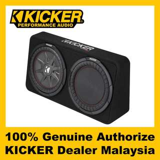 "KICKER CompRT 12"" Shallow Enclosure Subwoofer, 1000W - TCWRT122"