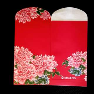 2pcs Kim Eng Red Packet *larger floral angpow