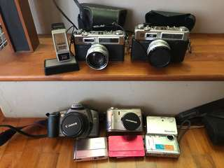 Entire set Old cameras