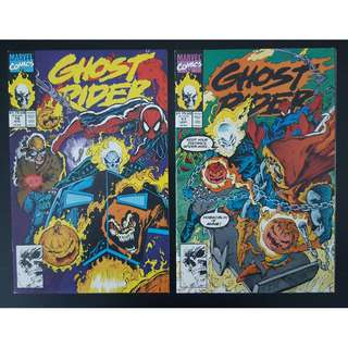 Ghost Rider #16-#17 (1991 2nd Series) Complete Set of 2- Guest-starring Spider-Man, Versus The Hobgoblin, Round 2!