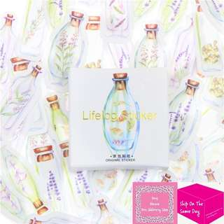 45pcs Flowers In The Bottles Sticker Pack
