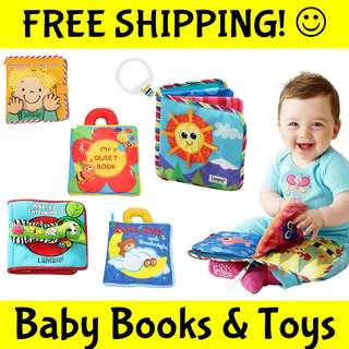 ★FREE SHIPPING+GIFTS★Premium Cloth Books Soft Toy Story★Jigsaw Puzzle Flash Cards★Baby Education Shower Birthday Xmas Gift★Activity Play Mat★Teether Rattle Bedrail Soft Toy★Children Educational★