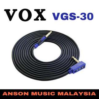 Vox VGS-30 Rock Guitar/Bass Cable, 3M