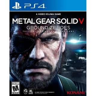 PS4 Metal Gear Ground Zero MGS
