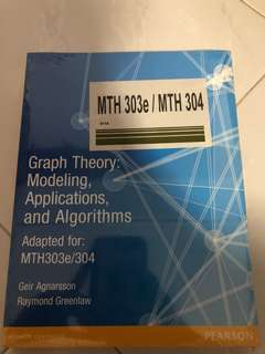 Graph Theory: Modeling, applications and algorithms from Pearson