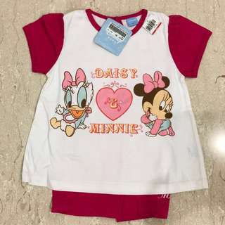 Disney Daisy & mini mouse 2 pcs pink set (M size)
