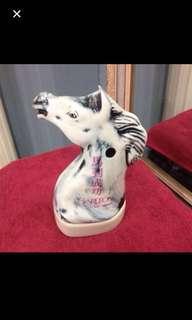 Vintage vase& for luck display
