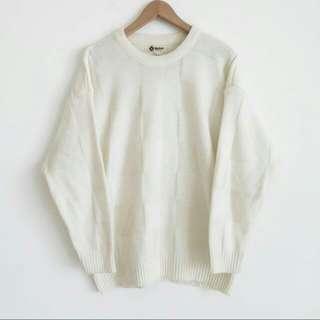 🚚 白色古著毛衣