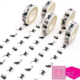 Set of 10M The Shadow of A Cat Washi Tape
