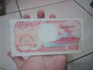 Uang 100 rupiah tahun 92 Kapal pinisi