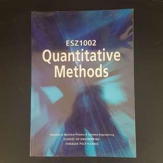 Quantitative Methods (ESZ1002)