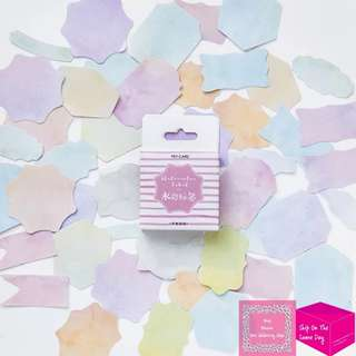Set of 45pcs Watercolor Label Sticker Pack