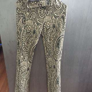 H&M wide leg patterned pants