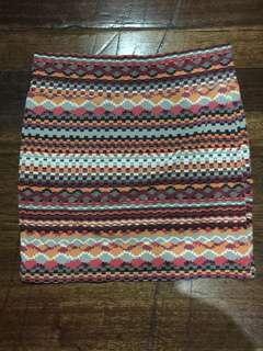 Forever21 Aztec Bandage Skirt
