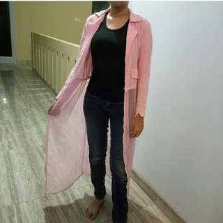 Long outer cardigan