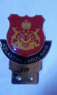 Kelantan car logo vip