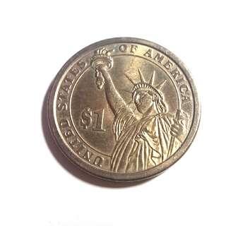 2007 年制美國第一任總統一元金色硬幣 1 DOLLAR COIN