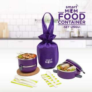 Smart Mom Food Container Ungu