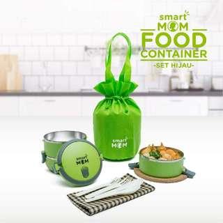 Smart Mom Food Container Hijau