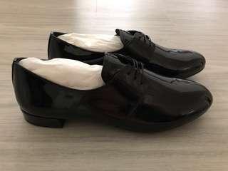 Pr4d4 Black Patent Leather Derby