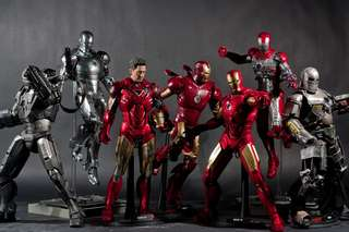 Selling hot toys iron man collection.