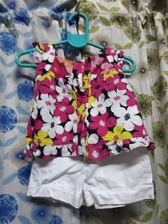 set/terno blouse and short for toddler