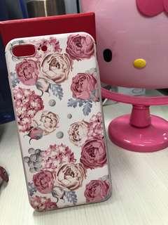 Iphone 7/8 plus soft case flower pink