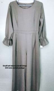 Small bell sleeve overall (Grey)