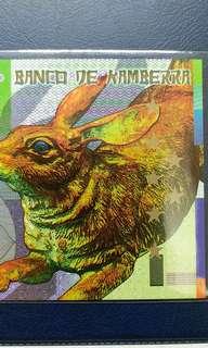2011年 澳洲 兔年生肖鈔 堪培拉銀行 50元 塑膠鈔 全新直版