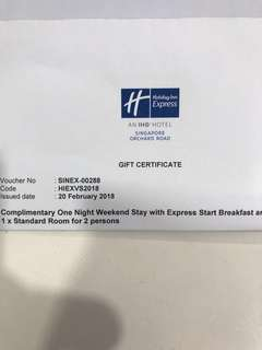REDUCED-Holiday Inn Express Weekend Stay