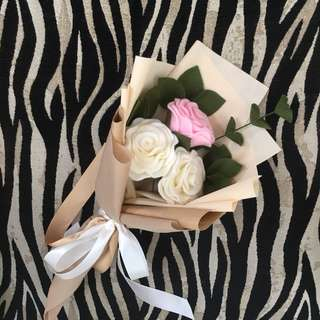 Buket bunga flanel (flowers bouquet)
