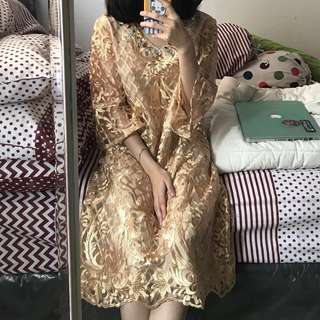 ELENA DRESS KAFTAN KEBAYA GOLD