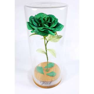 Enchanted Rose in Emerald