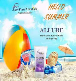 Allure hand & body cream  instense whitening 120ml