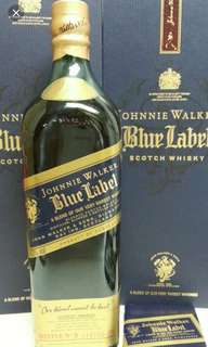舊版Johnnie Walker Blue Label750ml連盒。
