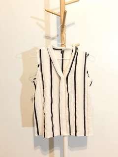 🚚 棉麻條紋上衣